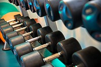 weights at gymnasium at a fitness centre