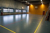 indoor sports court at a highschool